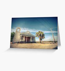 Mojave Desert Church Greeting Card
