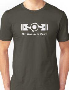 Subaru My World is Flat (white) Unisex T-Shirt