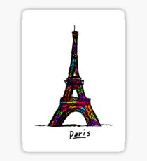 Colorful Paris Eiffel Tower Sticker