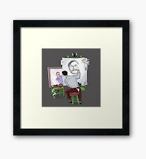 Animator self portrait Framed Print