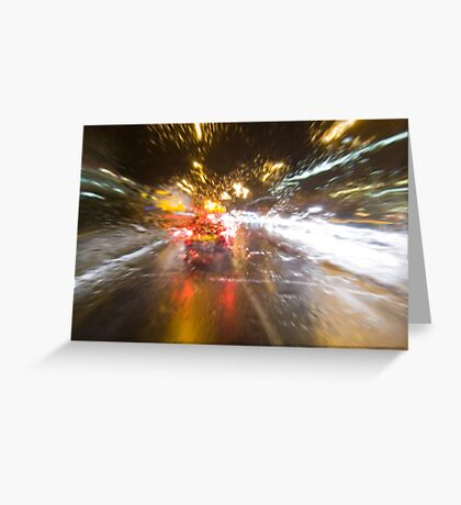 Driving Rain Greeting Card