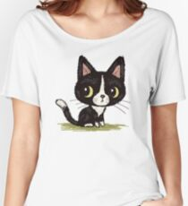 Cute black kitten Women's Relaxed Fit T-Shirt