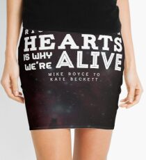 """""""Risking our hearts is why we're alive."""" - Mike Royce to Kate Beckett Mini Skirt"""