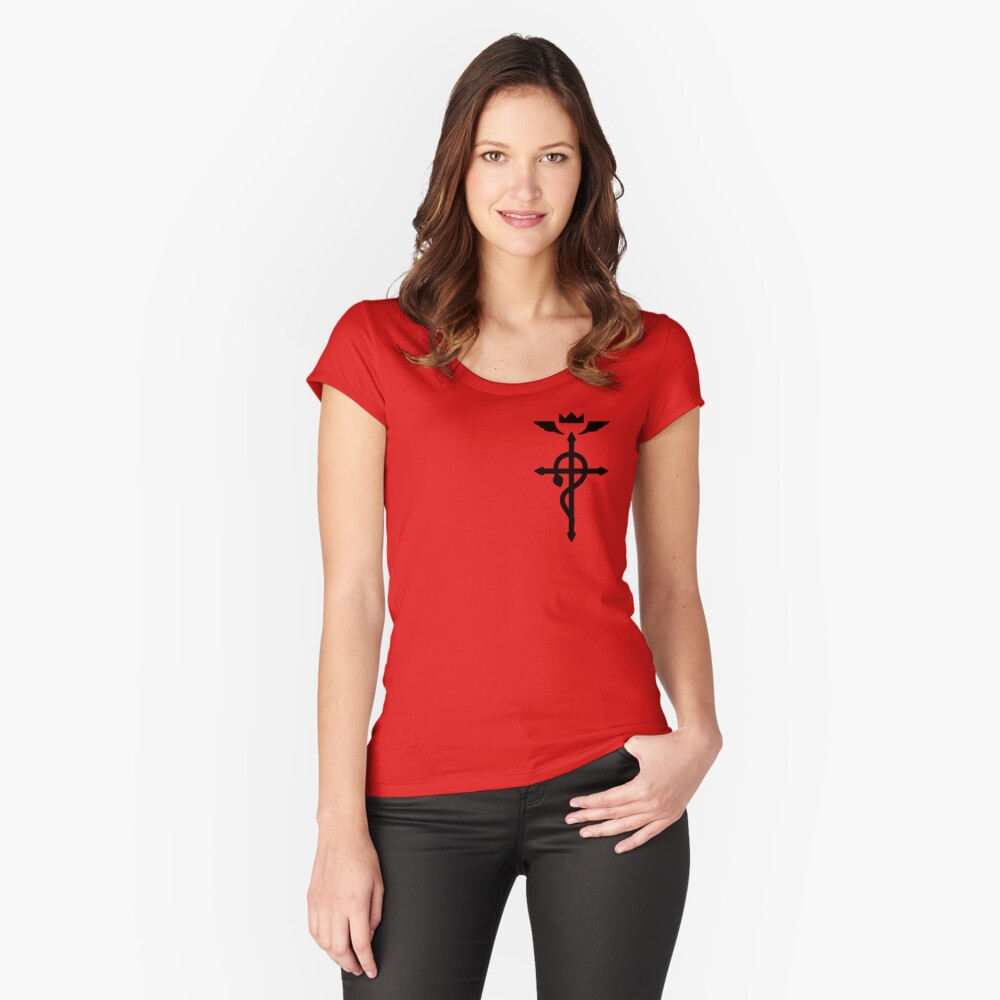 Fullmetal Alchemist - Flamel Insignia (Black) Fitted Scoop T-Shirt