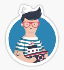 Funny Sailor Sticker