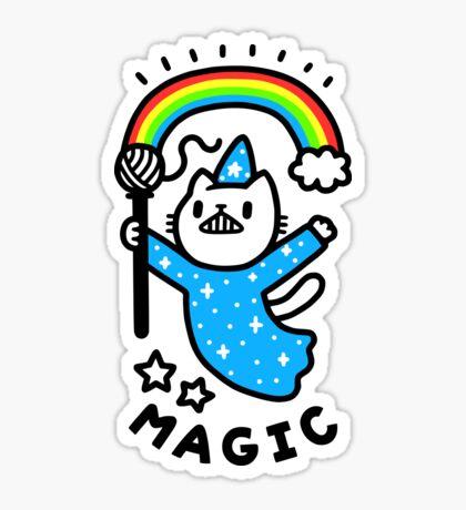 Magical Wizard Cat Glossy Sticker