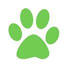 Kittyprints - Single Green by ladyrockbottom