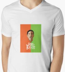 Worl Boss Men's V-Neck T-Shirt
