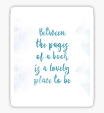 Between the pages of a book... Sticker