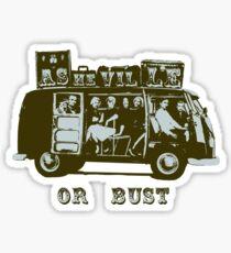 Asheville Or Bust! Sticker