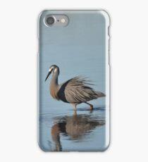 White Faced Heron. iPhone Case/Skin