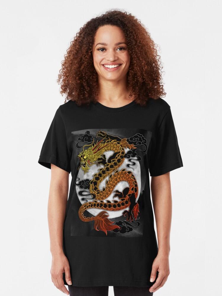 "Full Moon Dragon: ""Full Moon Dragon"" T-shirt By MagicMama"
