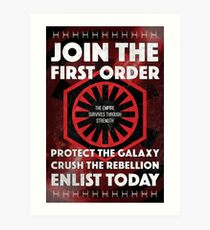 First Order Recruitment Poster Art Print