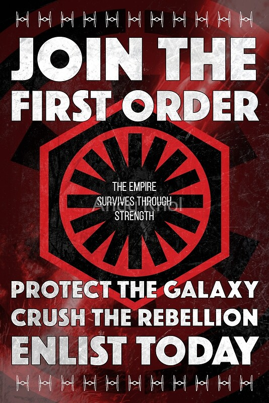 """""""First Order Recruitment Poster"""" Posters by Andy Knol ..."""