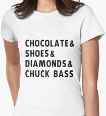 chocolate, shoes, diamonds, chuck bass Womens Fitted T-Shirt