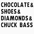 chocolate, shoes, diamonds, chuck bass by mariatorg