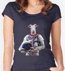Goat Astronaut In Space Women's Fitted Scoop T-Shirt