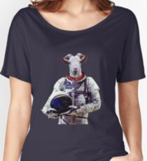 Goat Astronaut In Space Women's Relaxed Fit T-Shirt