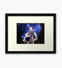 Ziege Astronaut im Weltraum Gerahmtes Wandbild