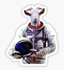 Goat Astronaut In Space Sticker