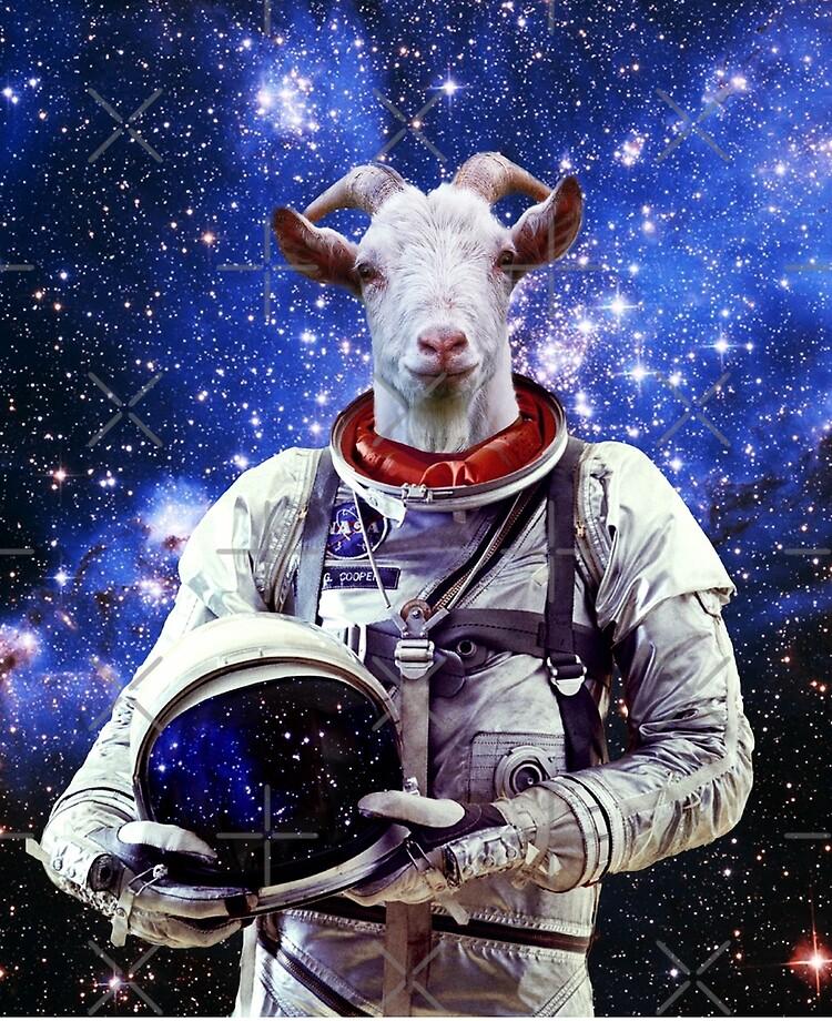 Goat Astronaut In Space | iPad Case & Skin