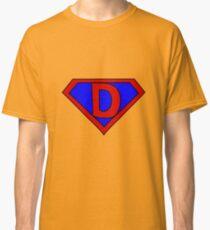 Hero, Heroine, Superhero, Initials,  D Classic T-Shirt