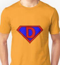 Hero, Heroine, Superhero, Initials,  D Unisex T-Shirt