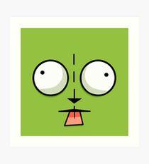 Gir Face - Invader Zim Cartoon Art Print