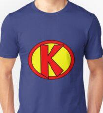 Hero, Heroine, Superhero, Initials,  K Unisex T-Shirt