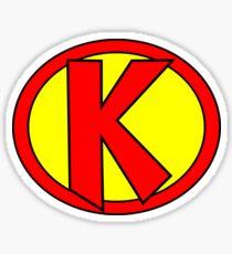 Hero, Heroine, Superhero, Initials,  K Sticker
