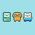 8-bit Jake Finn & Beemo by geraldbriones