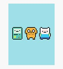 8-bit Jake Finn & Beemo Photographic Print