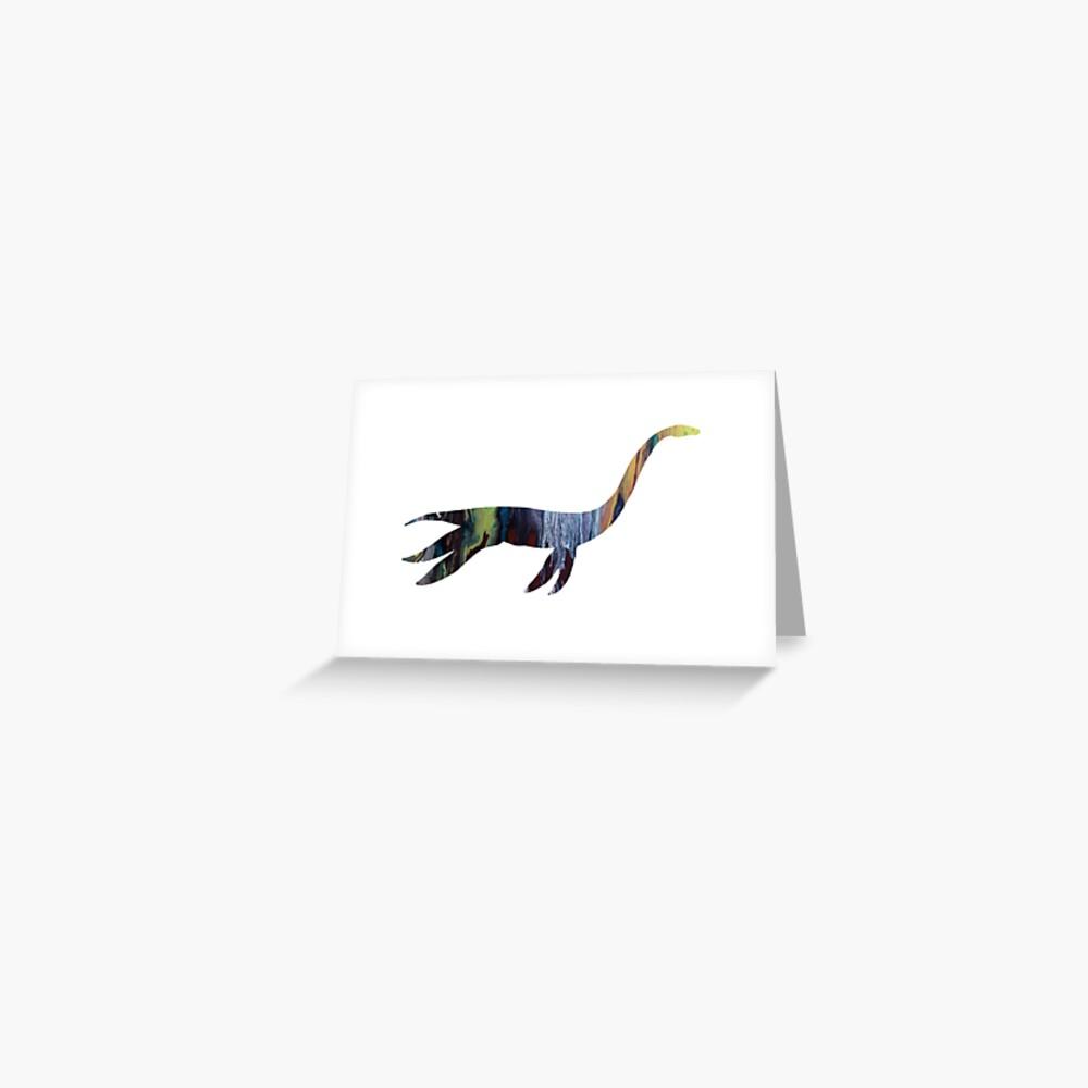 Plesiosaurus Grußkarte