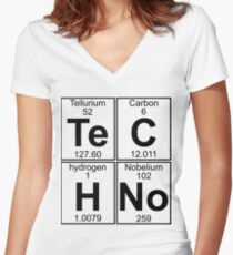Techno Bag? Techno everything! Women's Fitted V-Neck T-Shirt