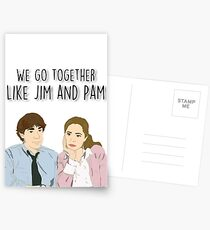 We go together like Jim and Pam Postcards