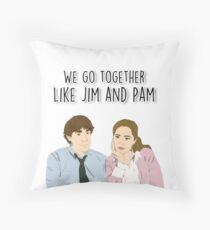 Wir gehen zusammen wie Jim und Pam Dekokissen