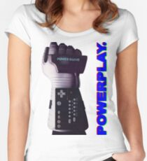 NES Power Glove - POWERPLAY Women's Fitted Scoop T-Shirt