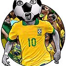 Brazilian Football Head (Number 10) by JoelCortez