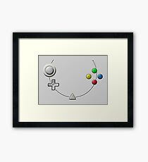 Dreamcast Buttons Framed Print