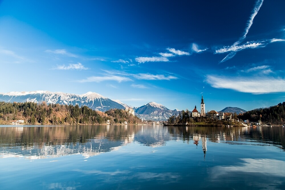 morning at the lake of Bled by zakaz86