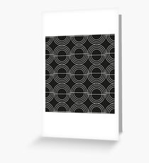 Abstract disco pattern Greeting Card