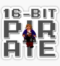 Guybrush - 16-Bit Pirate Sticker