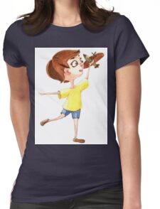 Little pilot Womens Fitted T-Shirt