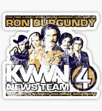 News Team 4 (Distressed) Sticker