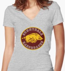 Buffy-Sunnydale  Razorbacks Women's Fitted V-Neck T-Shirt