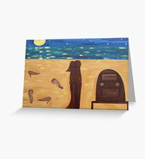 DANCING BAREFOOT ON THE SAND Greeting Card