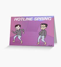 Hotline Spring Poster Greeting Card
