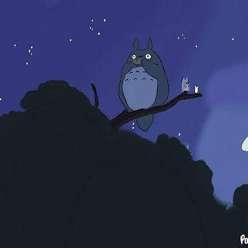 Totoro tree scene by PaintedFrogs