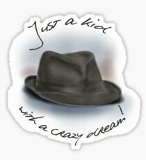 Hat For Leonard Cohen Sticker