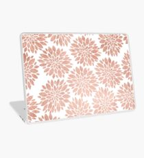 Modern rose gold geometric floral abstract Laptop Skin
